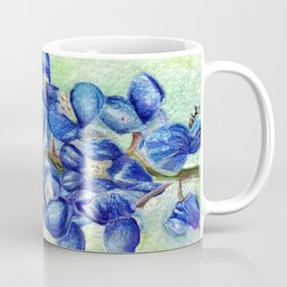 Texas Bluebonnets - Blue and green wildflower art Coffee Mug