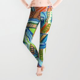 Bent and Straight Ladders Pattern Leggings