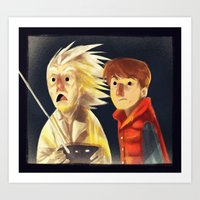 back to the future Art Prints featuring Back to the future by Peerro
