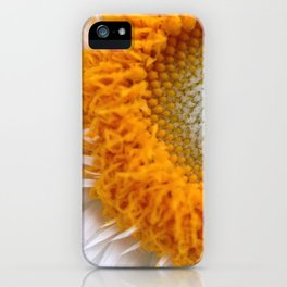 White orange daisy flower - Greg Katz iPhone Case