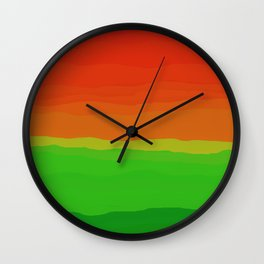 Candy Watermelon Abstract Wall Clock