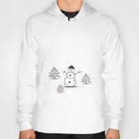 snowman Hoodies featuring snowman by aleksander1