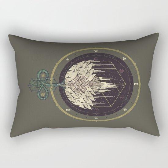 Fading Dahlia Rectangular Pillow