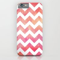 Watercolor Chevron. iPhone 6 Slim Case