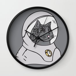 Stoic Spacecat Wall Clock