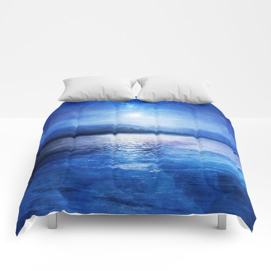 Our secret blue space Comforters