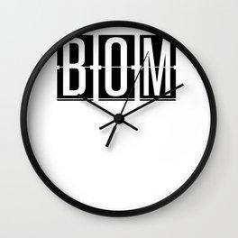 BOM  - Mumbai - India - Airport Code Souvenir or Gift Design  Wall Clock