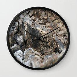 Textured Tree Stump Of Eucalyptus Tree  Wall Clock