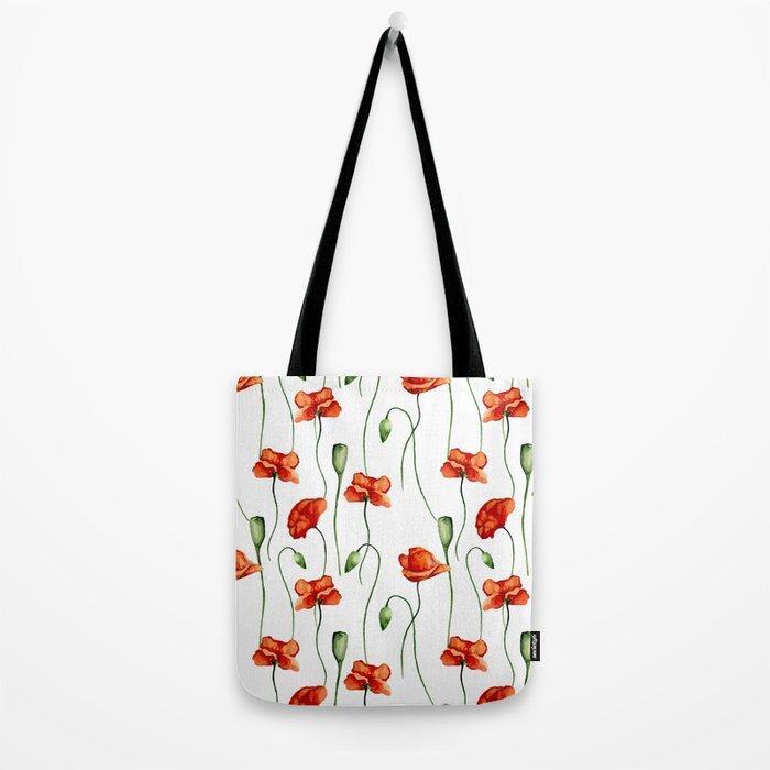 Poppies pattern Tote Bag