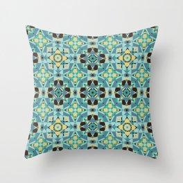 Just Beachy Seamless Pattern Throw Pillow