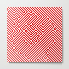 Optical Chaos 02 red Metal Print