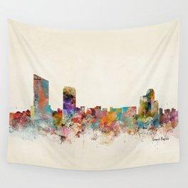 grand rapids michigan skyline Wall Tapestry