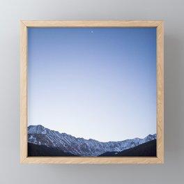 Daylight Moon Ridge Framed Mini Art Print