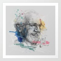 Art Print featuring Renzo Piano and skeches by Podessto