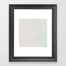Pastel Lace Framed Art Print