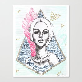 Island Rose Canvas Print