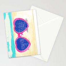Sunglasses on beach Stationery Cards