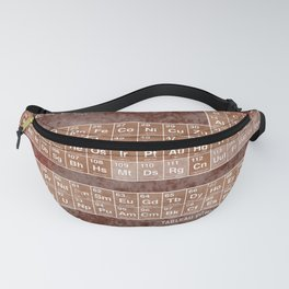 Tableau Periodiques Periodic Table Of The Elements Vintage Chart Sepia Fanny Pack