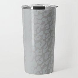 White Silver Leopard Print Travel Mug