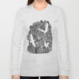 Ecotone (black & white) Long Sleeve T-shirt