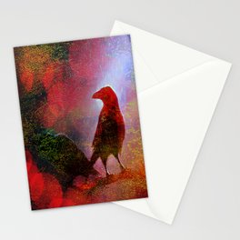 The clearing of king crow   ( collaboration with the talented artist Agostino Lo coco) Stationery Cards