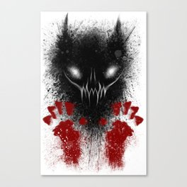 Bloody Hands Canvas Print