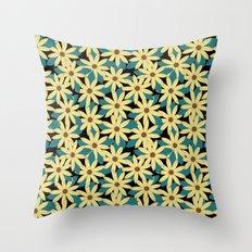 Gerbera Black Throw Pillow