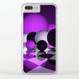 pink or violet -2- Clear iPhone Case