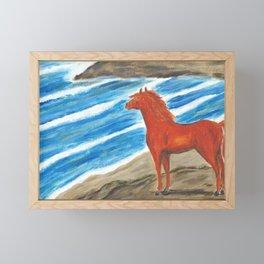 The Red Stallion Framed Mini Art Print