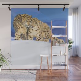 Snow leopards Wall Mural