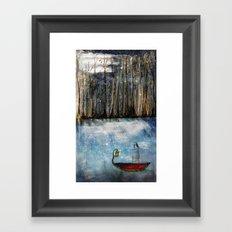 Left Afloat Framed Art Print