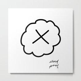 cloud pool logo Metal Print