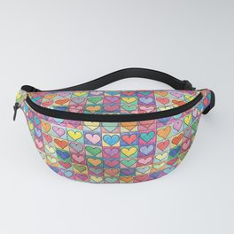 Colorful hearts Fanny Pack