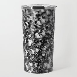 Cotton In Black And White Travel Mug