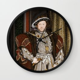 Portrait of Henry VIII - After Hans Holbien the Younger Wall Clock