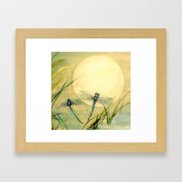 Dragonfly Moon  Framed Art Print