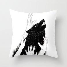 Wolves of Paris Throw Pillow
