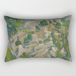 Paul Cézanne - Bottom of the Ravine Rectangular Pillow