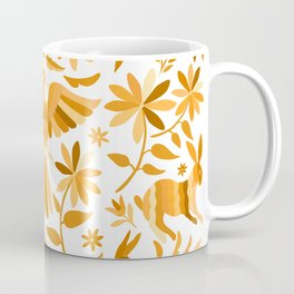 Mexican Otomí Design in Yellow Coffee Mug