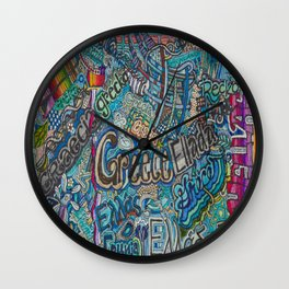 Greece in many languages Wall Clock