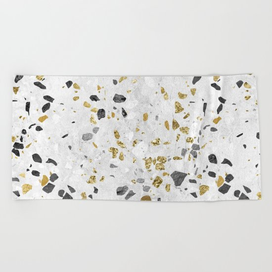 Glitter and Grit Beach Towel