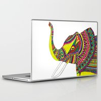 allison argent Laptop & iPad Skins featuring Allison Elephant by Laura Maxwell
