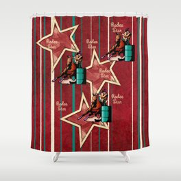 Barrel Racing Rodeo Star Shower Curtain