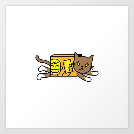 box cat Art Print