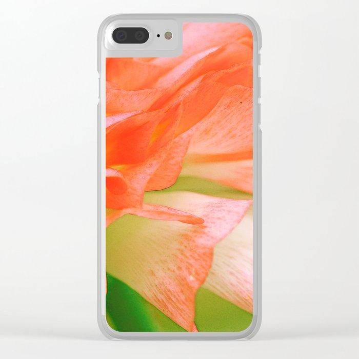 Vintage Ranunculus (6) Clear iPhone Case