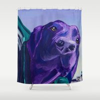 jeep Shower Curtains featuring Where Are We Going Now? by Roger Wedegis