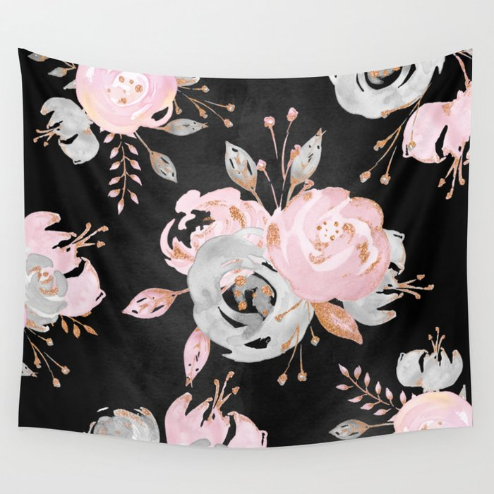 Night Roses 2 Wall Tapestry
