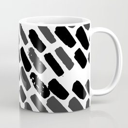 Oblique dots black and white Coffee Mug