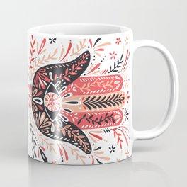 Hamsa Hand – Red & Black Palette Coffee Mug
