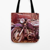 moto Tote Bags featuring Vintage Moto by Eduard Leasa Photography